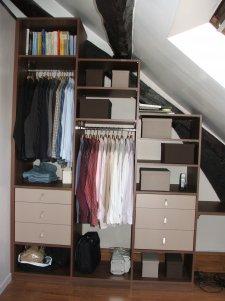 elegance rangement r alisation sous pente sur mesure. Black Bedroom Furniture Sets. Home Design Ideas