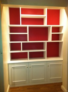 el gance rangement r alisation de biblioth que sur mesure. Black Bedroom Furniture Sets. Home Design Ideas
